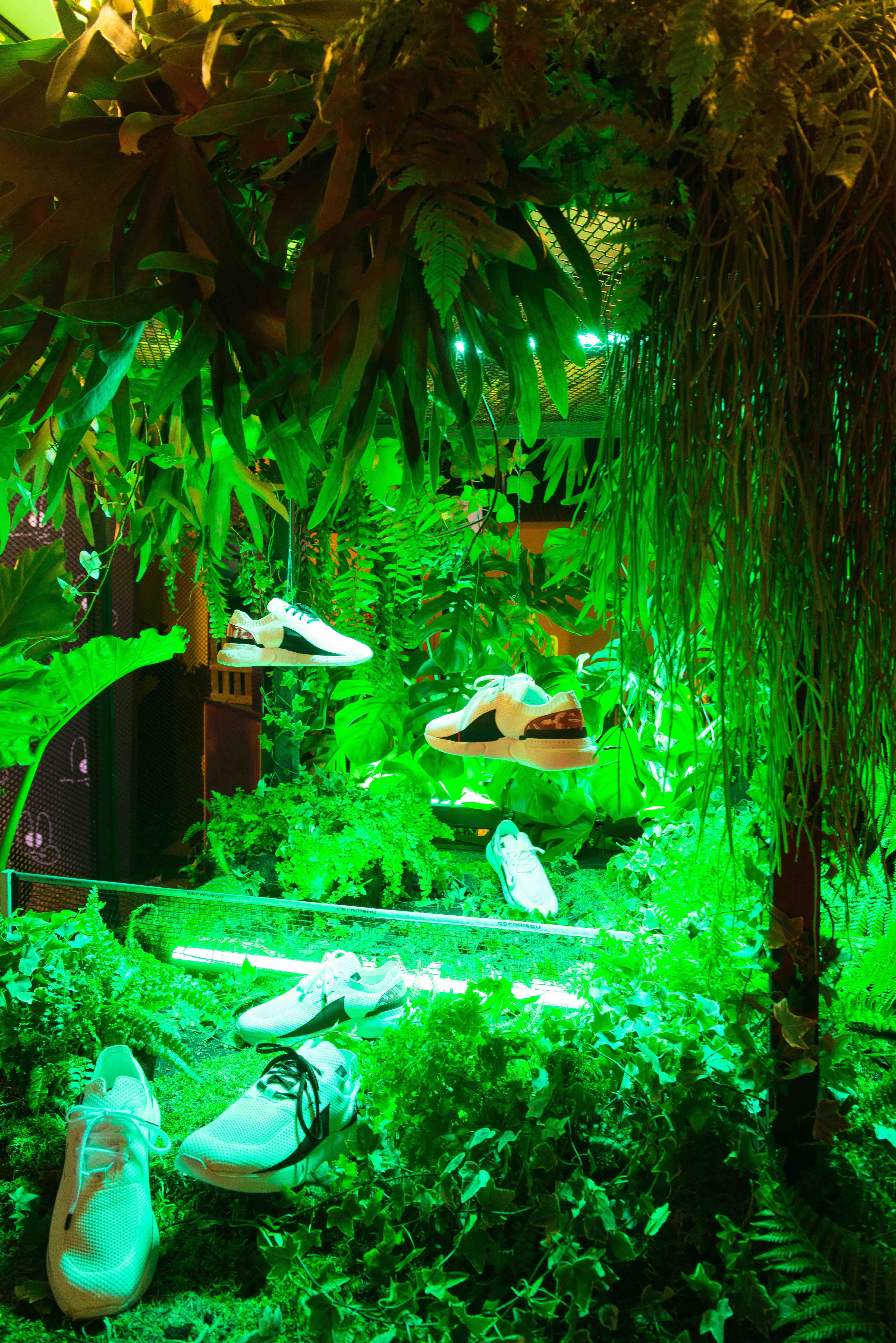 végétalisation événement sweet jungle paris urbex sneackers